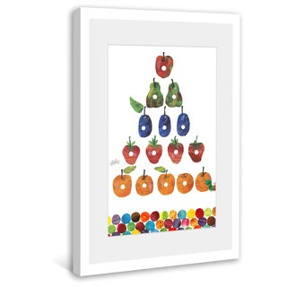 Marmont Hill - Caterpillar Fruit Triangle by Eric Carle Painting on Framed Print