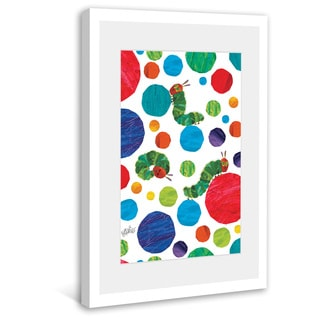Marmont Hill - Polka Dot Caterpillars by Eric Carle Painting on Framed Print