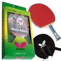 Butterfly 201 Table Tennis Racket - 1 Ping Pong Paddle - 1 Paddle Case - Gift Box - ITTF Approved