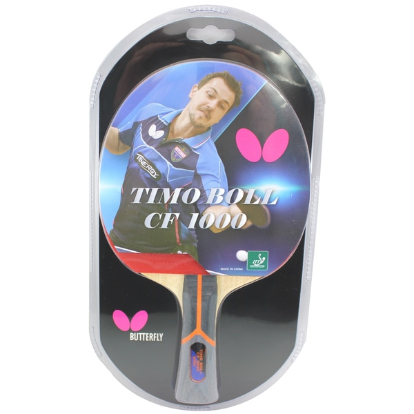 Butterfly Timo Boll CF 1000 ITTF Approved Carbon Fiber Blade with Pan Asia Rubber Table Tennis Racket