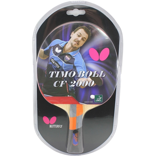 Butterfly Timo Boll CF 2000 ITTF Approved Carbon Fiber Blade with Pan Asia Rubber Table Tennis Racket