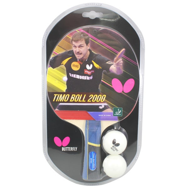 Butterfly Timo Boll 2000 ITTF Approved Sponge and Pan Asia Rubber Table Tennis Racket