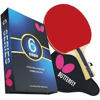 Butterfly 603 Table Tennis Racket Set with Ping Pong Paddle Case - Gift Box - ITTF Approved - Red