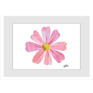 Marmont Hill - Pink Flower by Eric Carle Painting on Framed Print