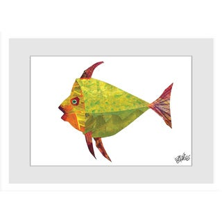 Marmont Hill - Tiny Seed Fish by Eric Carle Painting on Framed Print - Multi-color