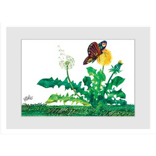 Marmont Hill - Butterfly Dandelion by Eric Carle Painting on Framed Print - Multi-color (4 options available)