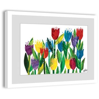 Marmont Hill - Tulips by Eric Carle Painting on Framed Print