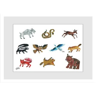 Marmont Hill - Animal Variety by Eric Carle Painting on Framed Print