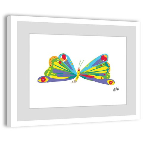 Marmont Hill - Rainbow Butterfly by Eric Carle Painting on Framed Print - Multi-color