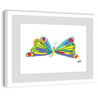 Marmont Hill - Rainbow Butterfly by Eric Carle Painting on Framed Print