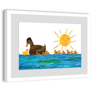 Marmont Hill - Mama Duck and Ducklings by Eric Carle Painting on Framed Print