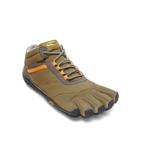 Vibram Fivefingers Trek Ascent Insulated Khaki/Orange MEN'S SIZE 15M5301