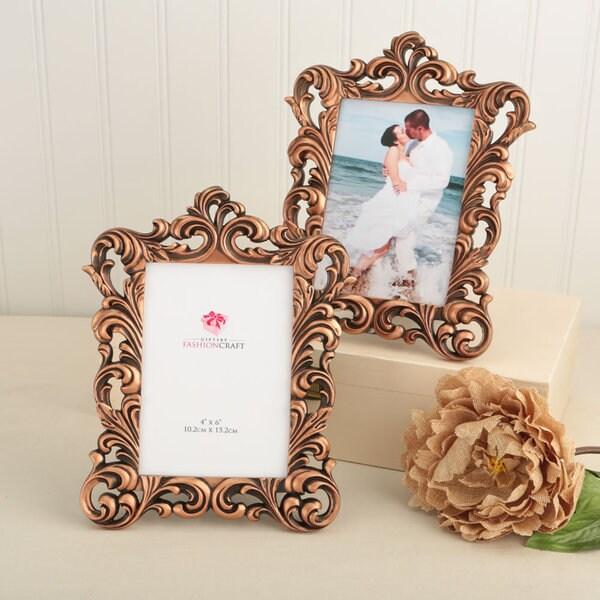 Copper Baroque Design Picture Frame