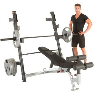 IRONMAN Triathlon X-Class Olympic Weight Bench with Detachable Leg Hold-Down