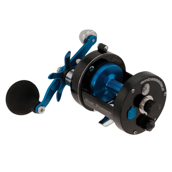 Abu Garcia Ambassadeur Blue Yonder Baitcast Reel BY-7000 5.3:1 Gear Ratio 3 Bearings 20 lb Max Drag Right Hand