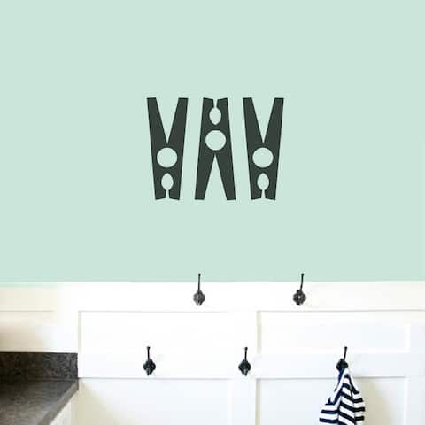 Clothespins Set - Laundry Room Wall Decals - SMALL