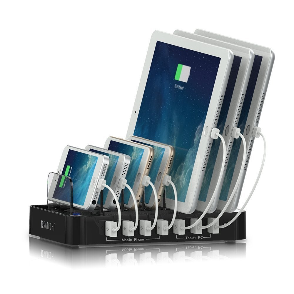 Satechi 7-Port USB Charging Station Dock (Black) (Black) ...