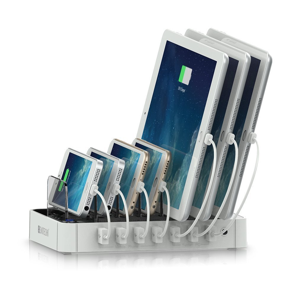 Satechi 7-Port USB Charging Station Dock (White) (White) ...