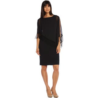 R & M Richards Women's Capelet Short Dress