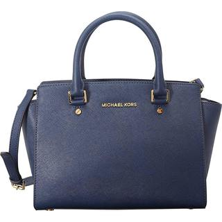 Michael Kors Selma Medium Navy Satchel Handbag