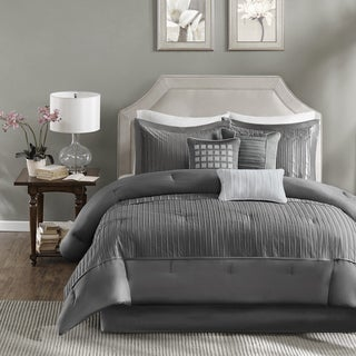 Madison Park Curtis 7-Piece King Size Comforter Set in Grey (As Is Item)