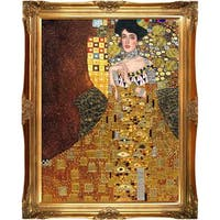 Portrait of Adele Bloch-Bauer I, 1907 by Gustav Klimt Metallic Embellished Framed Hand Painted Oil on Canvas