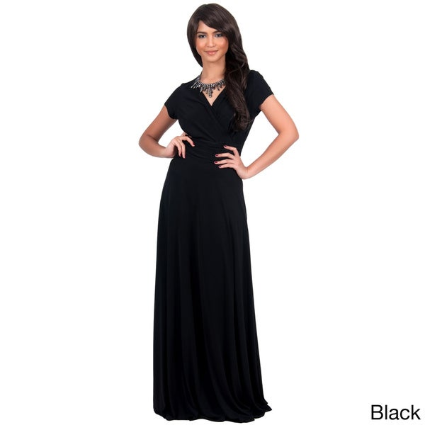 Womens Ladies Stretchy Contrast Collared Ankle Length Long Maxi Dress Plus Size