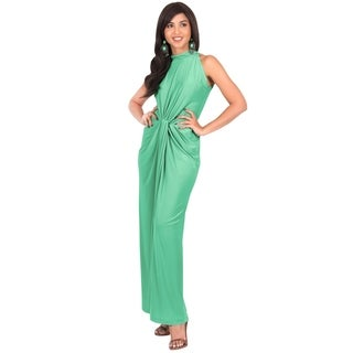 KOH KOH Women's Sleeveless Knotted Gown