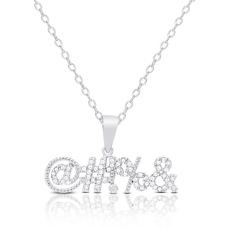Dolce Giavonna Sterling Silver Cubic Zirconia Necklace