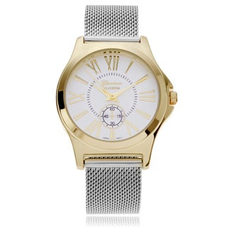 Geneva Platinum Women's Mesh Strap Watch