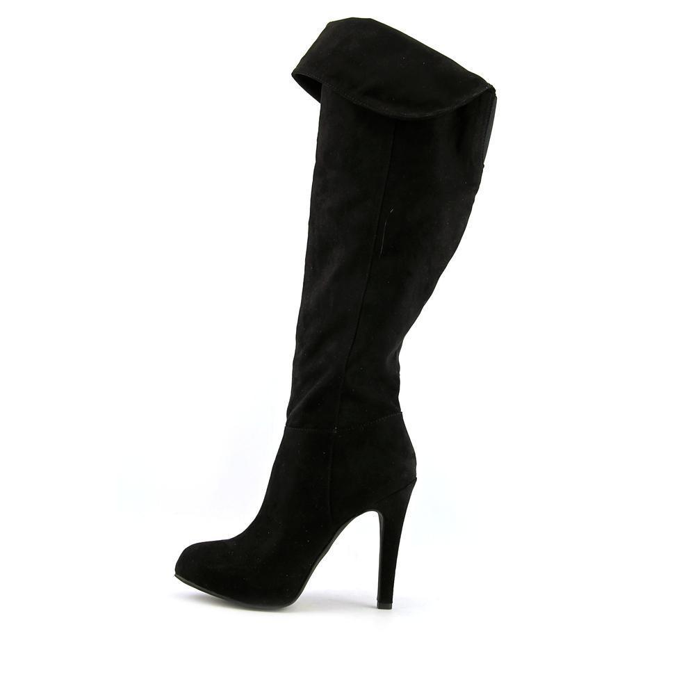 Audrey' Faux Suede Boots - Overstock