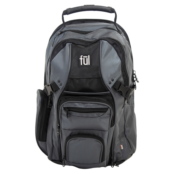 Ful Tennman Black/ Grey 17-inch Sleeve Laptop Backpack