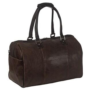 Piel Leather 17-inch Vintage Carry-On Satchel Duffel Bag