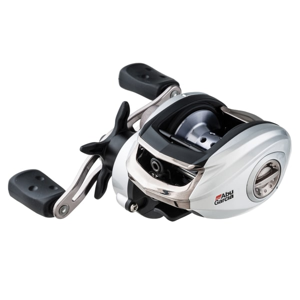 Abu Garcia Silver Max Low Profile Reel LP 6.4:1 Gear Ratio 6 Bearings 18 lb Max Drag Left Hand Clam Package