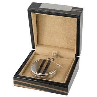 Visol Turbo Black Dial Carbon Fiber Pocket Watch with Gift Box