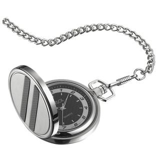 Visol Turbo Black Dial Carbon Fiber Pocket Watch