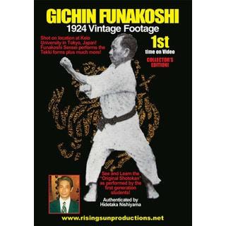 Gichin Funakoshi 1924 Shotokan Karate Vintage Footage 1924 B/W