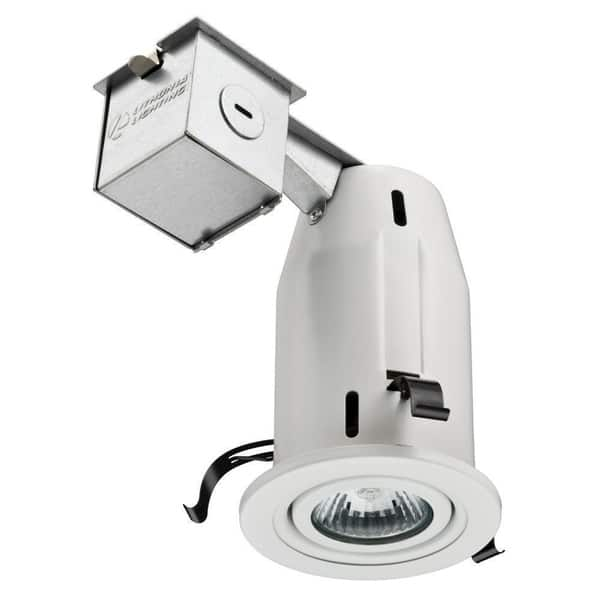 Lithonia Lighting 3 Inch Matte White Gimbal Recessed