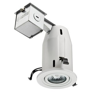 Lithonia Lighting 3-inch Matte White Gimbal Recessed Lighting Kit