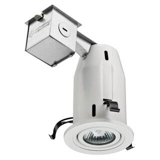 Lithonia Lighting 3-inch Matte White Gimbal Recessed Lighting Kit
