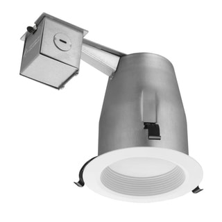 Lithonia Lighting 4-inch Recessed Baffle Integrated LED Matte White Lighting Kit