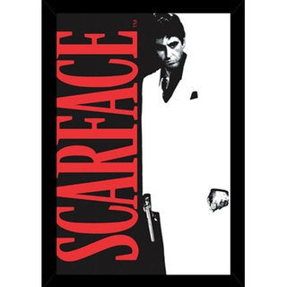 Scarface Print (22-inch x 34-inch) with Traditional Black Wood Frame
