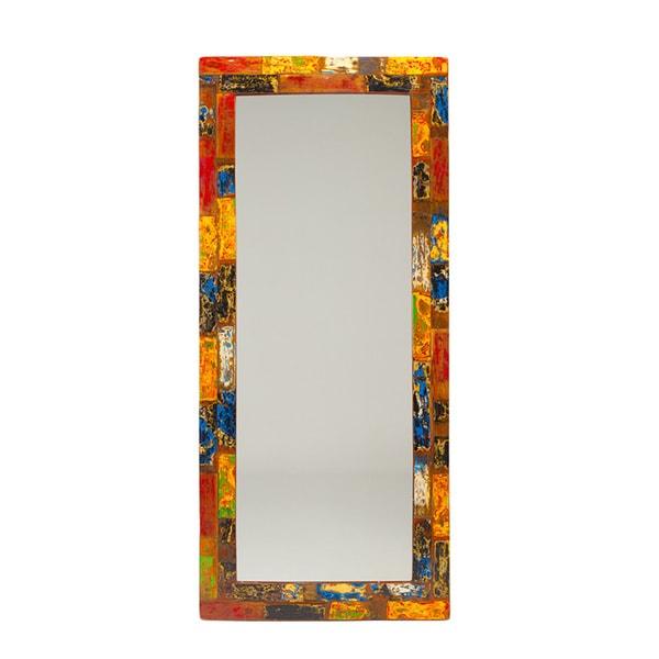 "Nautical Smiles Reclaimed Wood Mirror - Multi - 71"" x 32"""