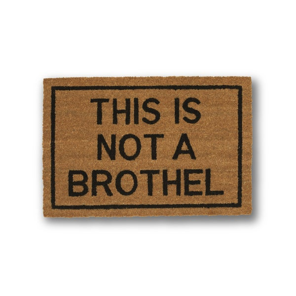 Shop Clever Doormats This Is Not A Brothel Brown Coir