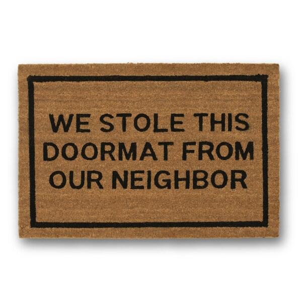 Shop Clever Doormats We Stole This Doormat Brown Coir