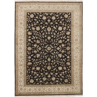 Sultanabad Roshan Black Hand-knotted Rug (8'3 x 11'7)