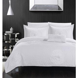 Chic Home Mercury White 8-piece Quilt Set