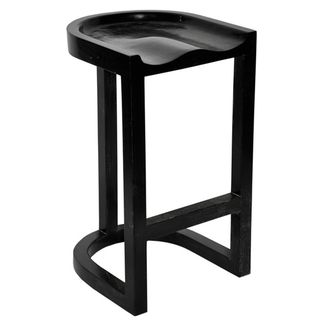 Saddle Barstool, Hand Rubbed Black