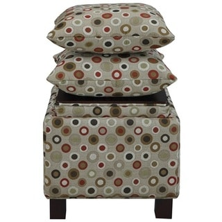 Madison Park Allison Square Storage Ottoman with Pillows