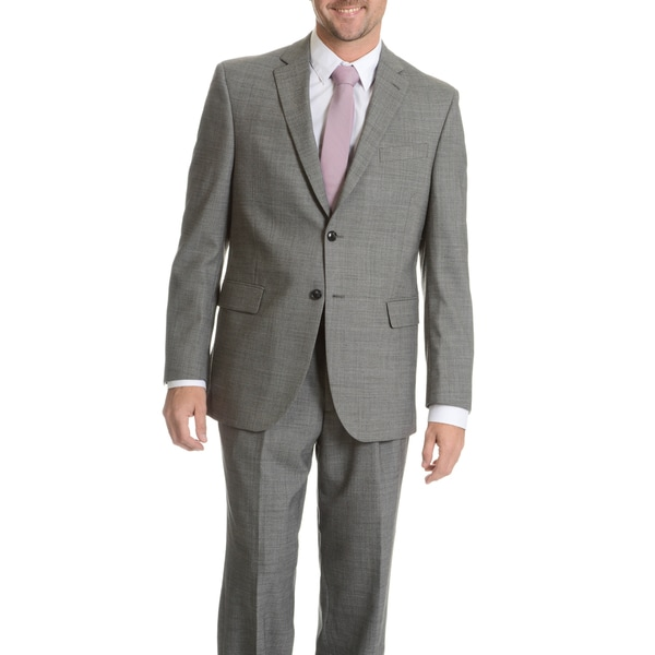 Palm Beach Men's Black/ Grey Wool Performance Executive Fit Suit Separates Coat. Opens flyout.
